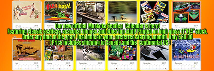 Official Muskoka Seaflea Calendar - CLICK HERE TO ORDER!
