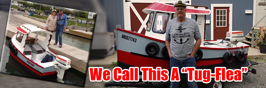 Jeff Glanfield Builds This Terrific Looking Mini Tug....not a flea, but almost.....(CLICK HERE TO SEE VIDEO!)